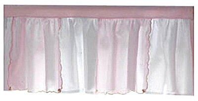 Picci Dafne Coordinating Window Valence in Pink and White