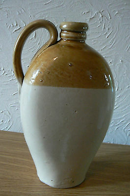 """Stone ware Flat - sided Flagon -Great Condition, Height 10"""" approx"""