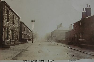 MANCHESTER ROAD SHAW MANCHESTER LANCASHIRE c1905 RP PC