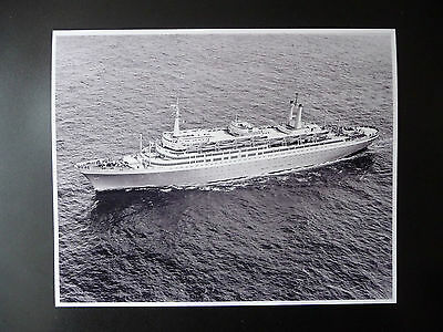 "Photograph SS Rotterdam V Holland Ameica Line Ocean Liner ""Grande Dame"" HAL"