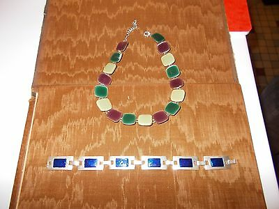 lot collier +bracelet fantaisie