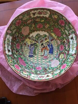 Vintage chinese famille rose bowl