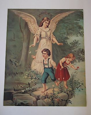 Guardian Angel Print Picture and Angel Love Print x2 Lot