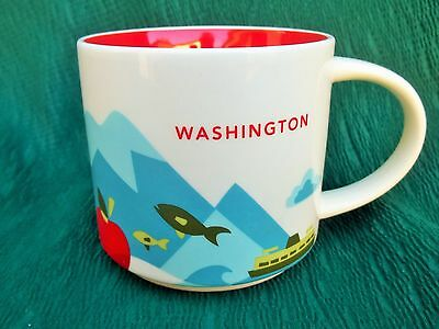 2015 STARBUCKS WASHINGTON - YOU ARE HERE COLLECTOR COFFEE MUG state / city