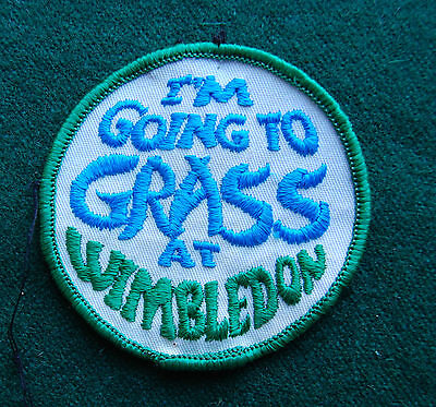 Going to Grass Wimbledon Patch/Cloth Badge - Tennis Grand Slam - Vintage Sports