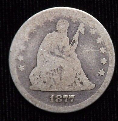 1877 S Seated Liberty Quarter  AG
