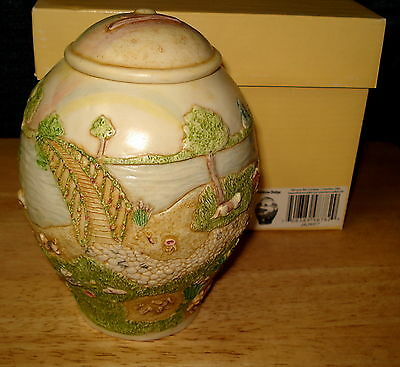 Harmony Kingdom Jardinia Rainbow Bridge Dog Pet Urn Martin Perry