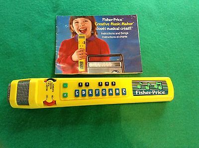 Fisher Price Creative Music Maker 1986 Works
