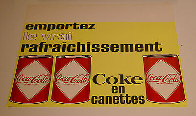 Coca-Cola French-Canadian diamond can sign 1966