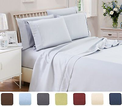 Hotel Quality Egyptian Ultra Soft 4 Piece Sheet Set- EXTRA 2 PILLOW CASES FREE!