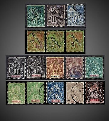 1891 , 1892 -1905 Reunion Small Lot Used  + One Stamp  Mint