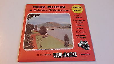 Viewmaster three reel set 3d THE RHINE German issue