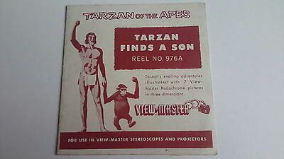 Viewmaster 3D single reel edition TARZAN with leaflet as issued