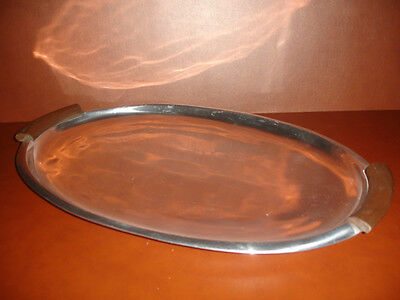 """NEW LENOX URBAN ACCENTS LARGE SERVING TRAY ALUMINUM PLATE PLATTER 18"""" x 12"""""""