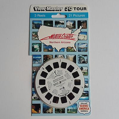 Viewmaster three reel carded packet set 3d METEOR CRATER ARIZONA