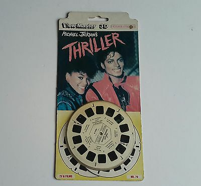 Viewmaster three reel carded packet set 3d THRILLER  Sealed unopened card