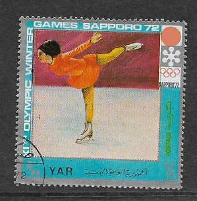 YAR USED STAMP - 1972 WINTER OLYMPICS SAPPORO - FIGURE SKATING 3/4Yb - 1971