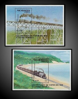 1991 Nicaragua Trains On Central And South America Bridges And Steam  Locomotive