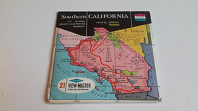 Viewmaster packet set 3d SOUTHERN CALIFORNIA map cover
