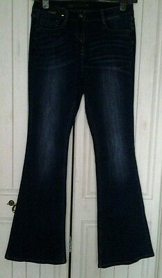 size 10 Next jeans reg leg 32in bootleg flare ,New rrp £28