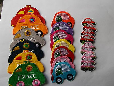 Novelty Car - Embroidered Felt Iron / Sew on Patch Applique Badge