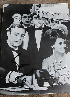 Sean Connery, Claudine Auger signed Photo Thunderball