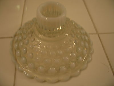 Beautiful Vintage Fenton French White Hobnail Opalescent Art Glass Candle Holder