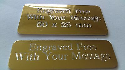 Engraved Trophy Award Plaque Plate 5 Different Sizes
