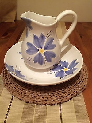 Decorative Hand Painted Jug And Bowl