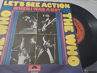 """7"""" - *Rock* THE WHO - Let's See Action*near mint*"""