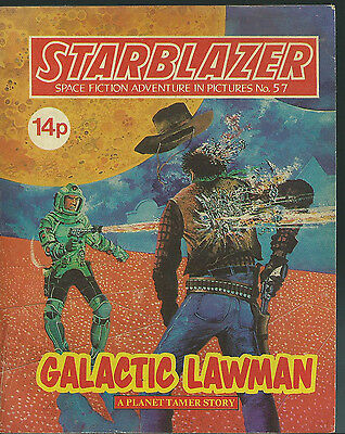 Galactic Lawman,no.57,starblazer Space Fiction Adventure In Pictures,comics