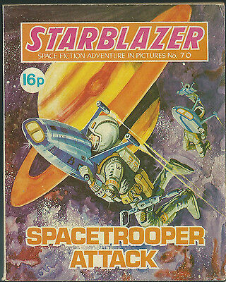 Spacetrooper Attack,no.70,starblazer Space Fiction Adventure In Pictures,comics