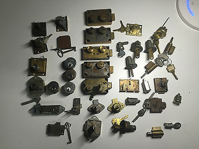 Locksmith-Student-Lot of Lock Cylilnders for Parts or Practice (2)
