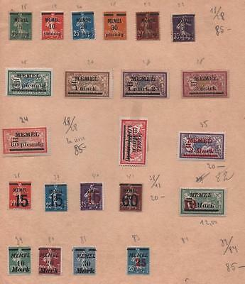 GERMANY: Memel Overprint Examples - Ex-Old Time Collection - Album Page (6871)