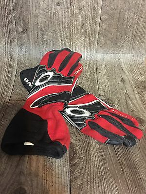 Oakley CarbonX Nomex Fireproof Racing Gloves Red/Black Great For Display