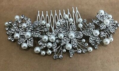 Beautiful hair comb bridal wedding crystal rhinestone hair accessories ha3608