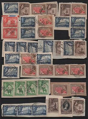 GOLD COAST: Used Examples on piece - Ex-Old Time Collection - Page (7027)