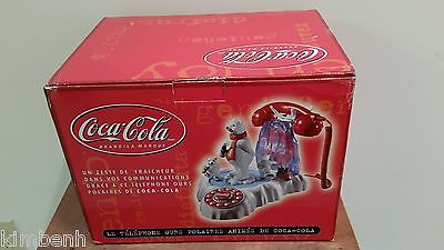 New! Coca- Cola Animated Skating Polar Bears Music & Lighted Phone