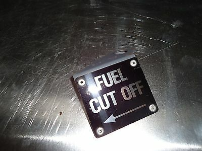 metal fuel cut off sign for a bus