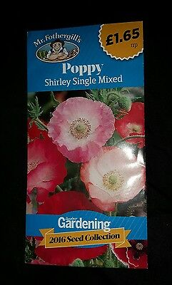 Mr. Fothergill's Seeds ~ Poppy ~ Shirley Single Mixed ♡♡♡ new & unopened ☆