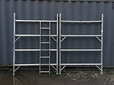 Boss Youngman Scaffold Tower Wide Span 2m 4 Rung Frames Used Slight Damage