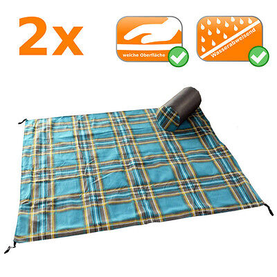Great Picnic Ceiling 2 Picnic blankets in XL-Format 180x150cm extra soft