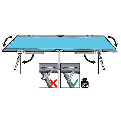 Camping Bed Camp cot for a fast Building und Abbau folding + stabil