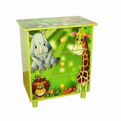 Children Kommode Jungle 48x57x30 cm Dresser Kid's room Kids' Furniture Furniture