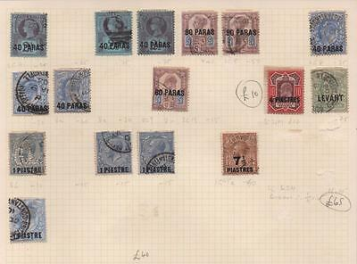 LEVANT: Victoria-George V Overprints - Ex-Old Time Collection - Page (6946)