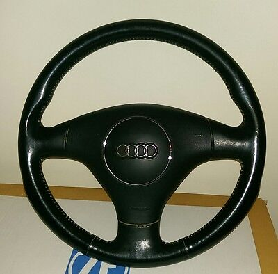 Audi A4 B6  '04 Black Leather Steering Wheel With Airbag