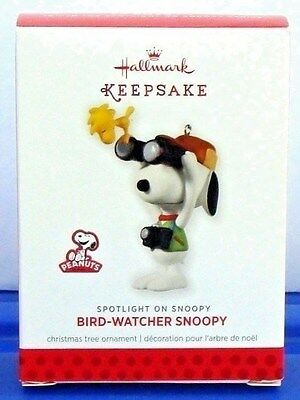 Hallmark Peanuts Bird Watcher Snoopy Ornament 2013 Spotlight On Series #16