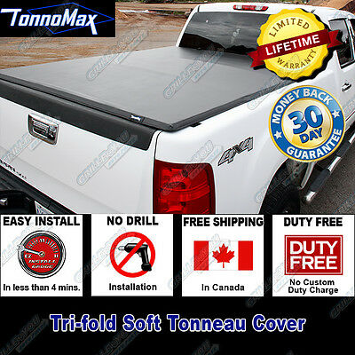 Toyota Tacoma Xtra 5' (With Utility Track) 2005-2014 Tonnomax Tri-Fold Bed Cover