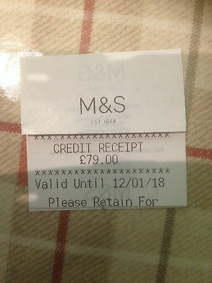 Marks And Spencer Gift Card Credit Voucher M&s