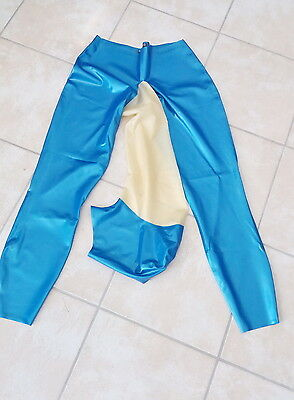 Rubber Leggings with attached Hood